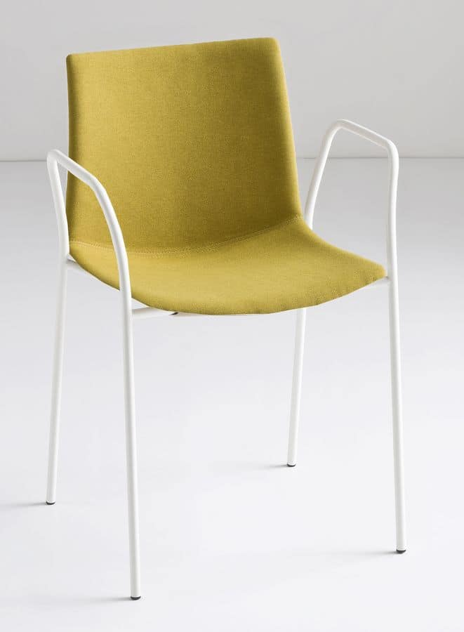 Kanvas TB, Metal chair with armrests, for bars and restaurants
