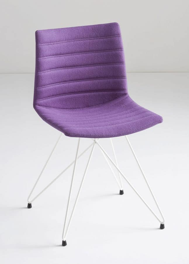 Kanvas TC, Chair with particular iron base, polymer shell