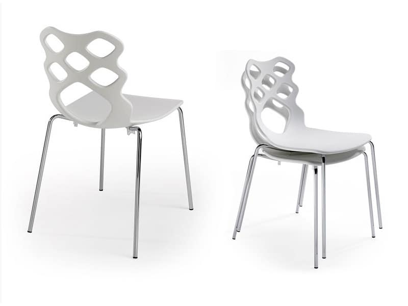 Lace 4G, Chair with plastic shell, modern design, suitable for residential and contract use