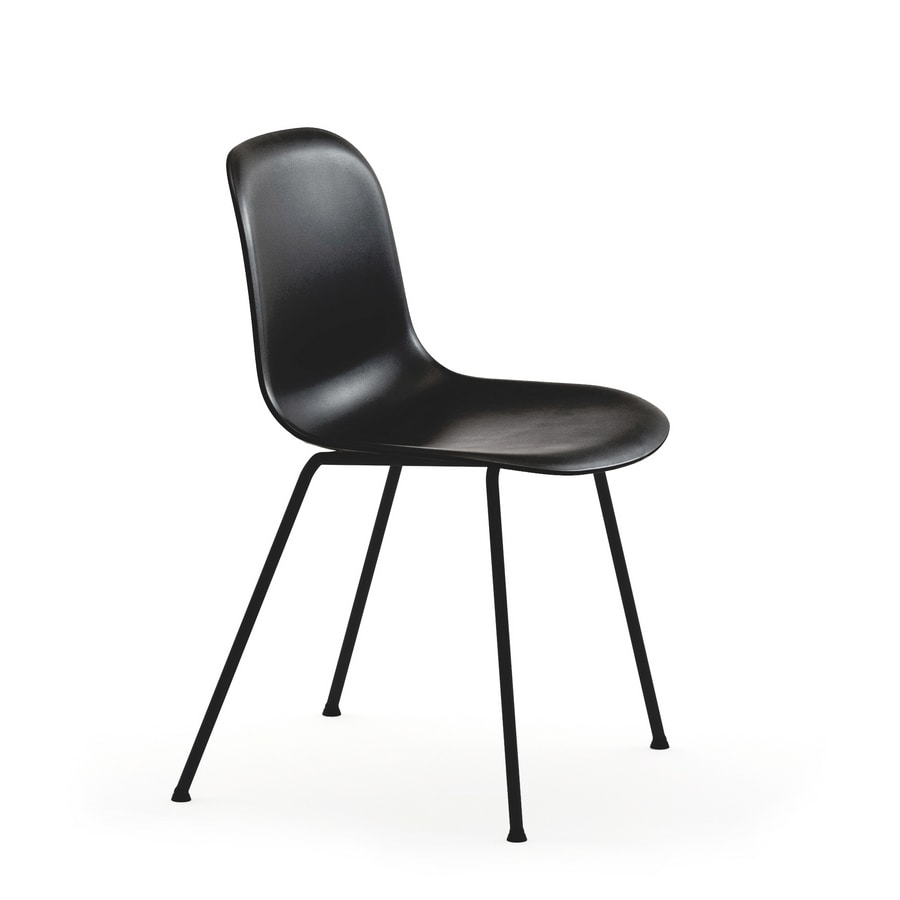 Máni 4L-PLUS, Chair in steel and polypropylene, in several colors