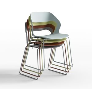 Mixis Air R_SB, Design chair with sled base