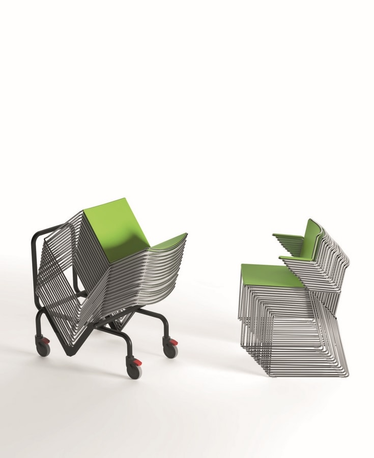 Multi with armrests, Modern chair with armrests, for contract and home