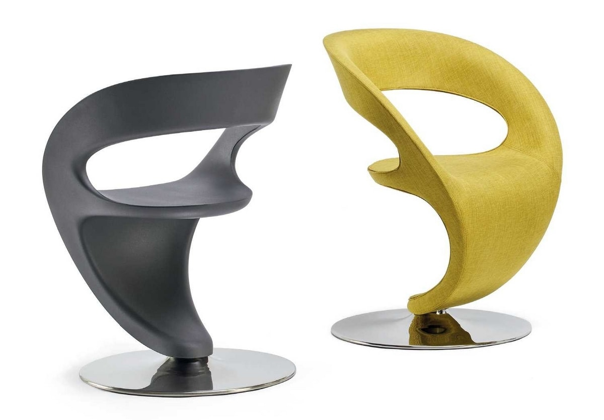 PinUp, Design chair with round steel base
