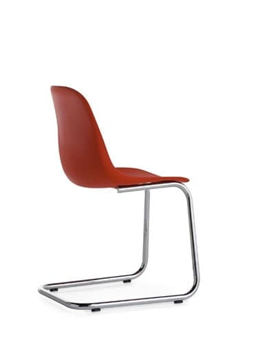 Pola Light R/CL, Lightweight chair with cantilever base
