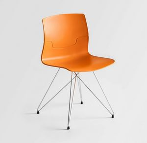Slot TC, Chair with tmatal base, technopolymer shell
