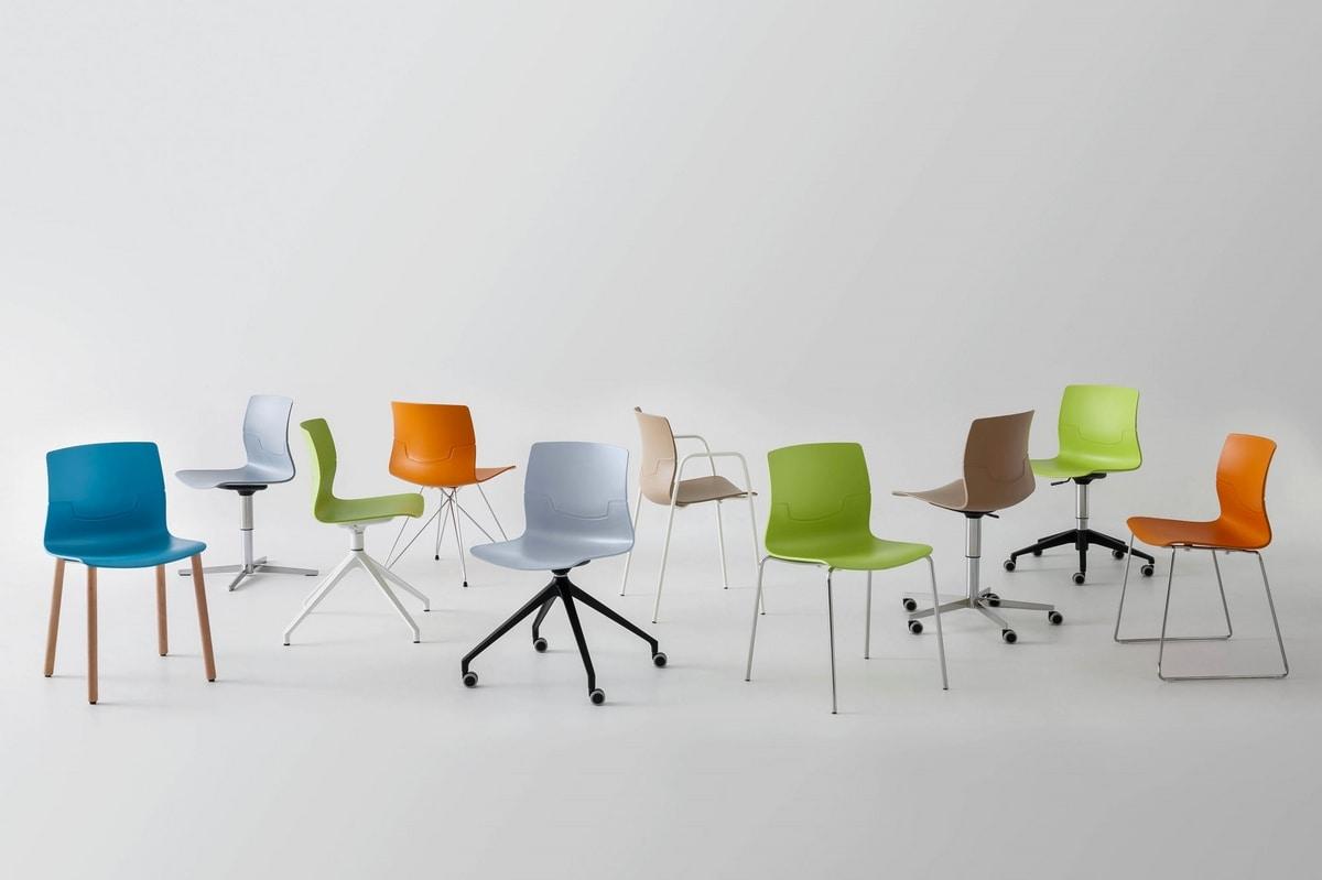 Slot Fill U, Swivel chair, aluminum base with 4 races