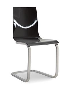 Steffy Vip, Methacrylate chair, with cantilever metal base