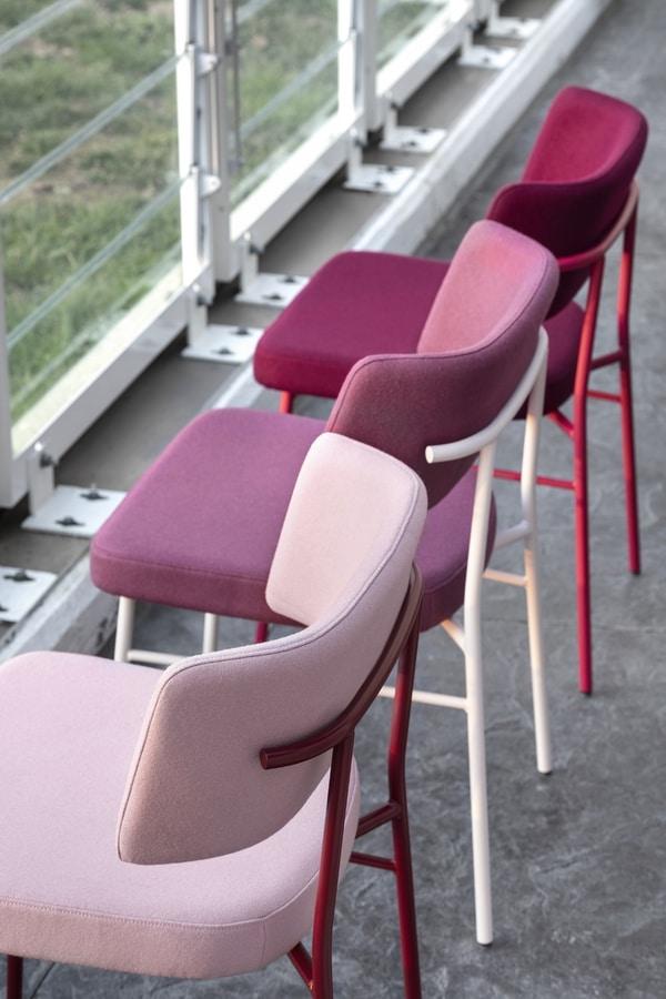 ART. 0161-MET-IM MARLEN, Chair with metal frame, upholstered seat