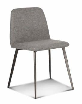 ART. BARDOT Met, Upholstered chair with metal base, tapered legs