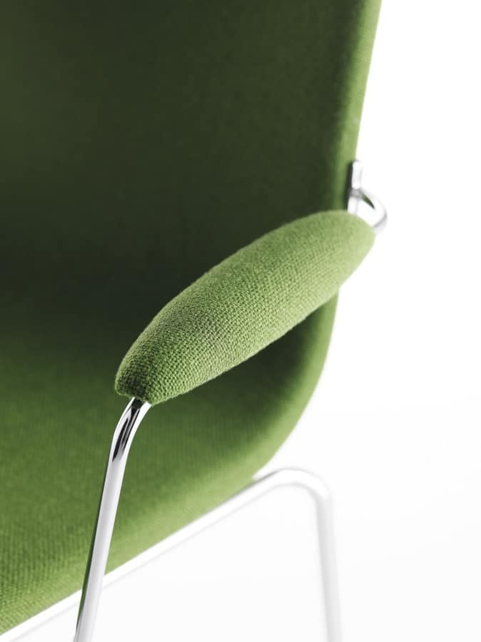 Asia PU, Chair with padded armrests