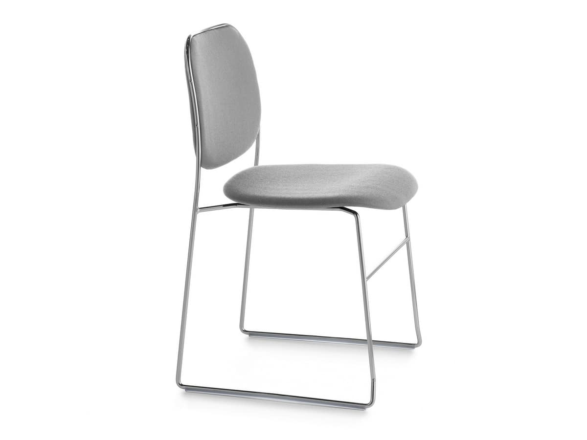 Bay R/FU, Padded chair without armrests