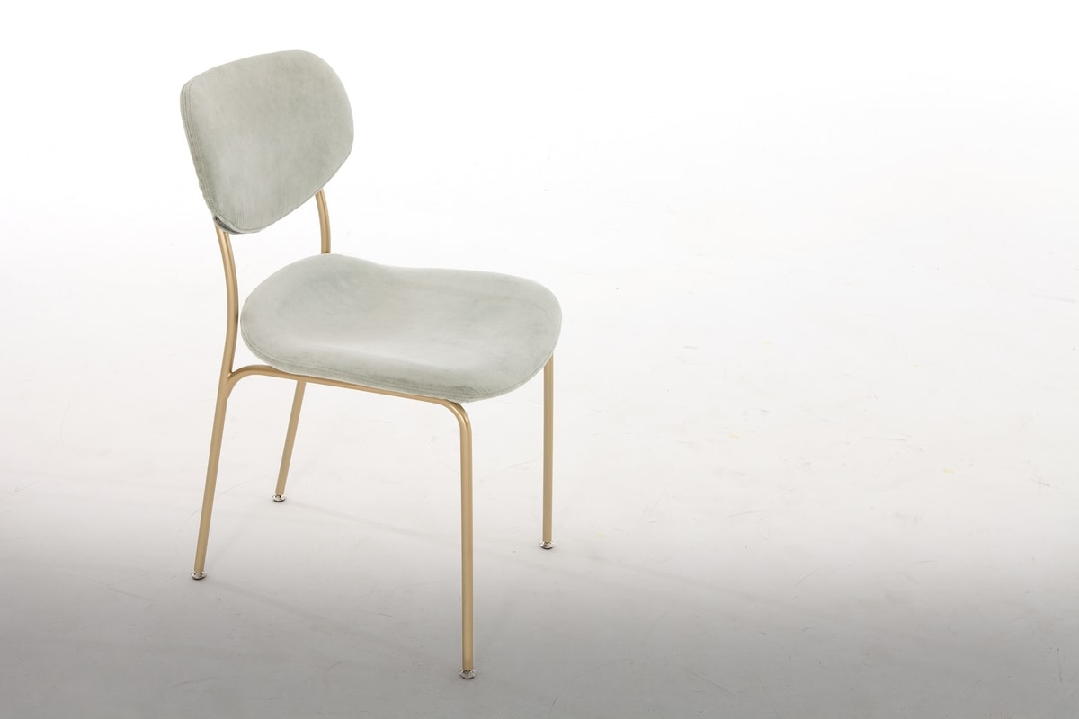 BIKINI, Chair in lacquered metal, with upholstered seat