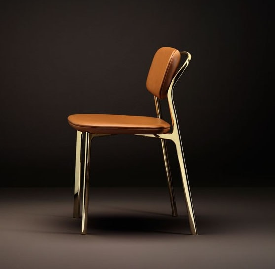 Coast Chair, Chair with a mix of rigorous and soft lines