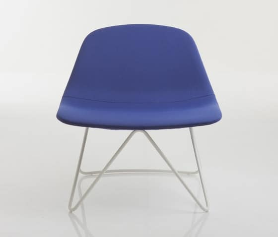 LLOUNGE LL1, Design chair with metal frame, upholstered with polyurethane