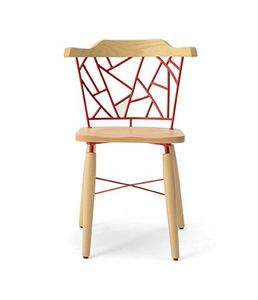 CG 958080, Chair with decorated metal back