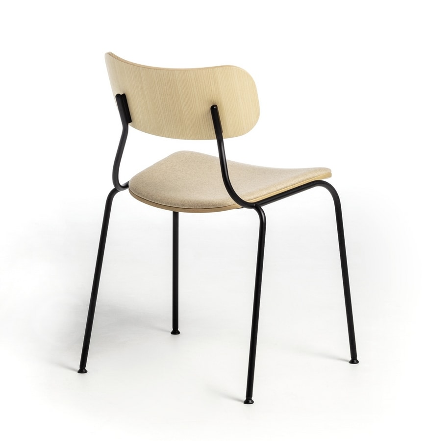 Kiyumi Wood, Chair in painted steel and ash