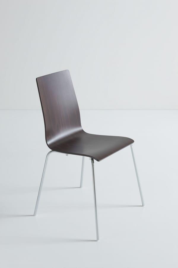 Lilà, Ergonomic wooden chair