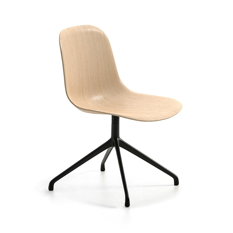 Máni Wood SP, Swivel chair with shell in 3D veneer