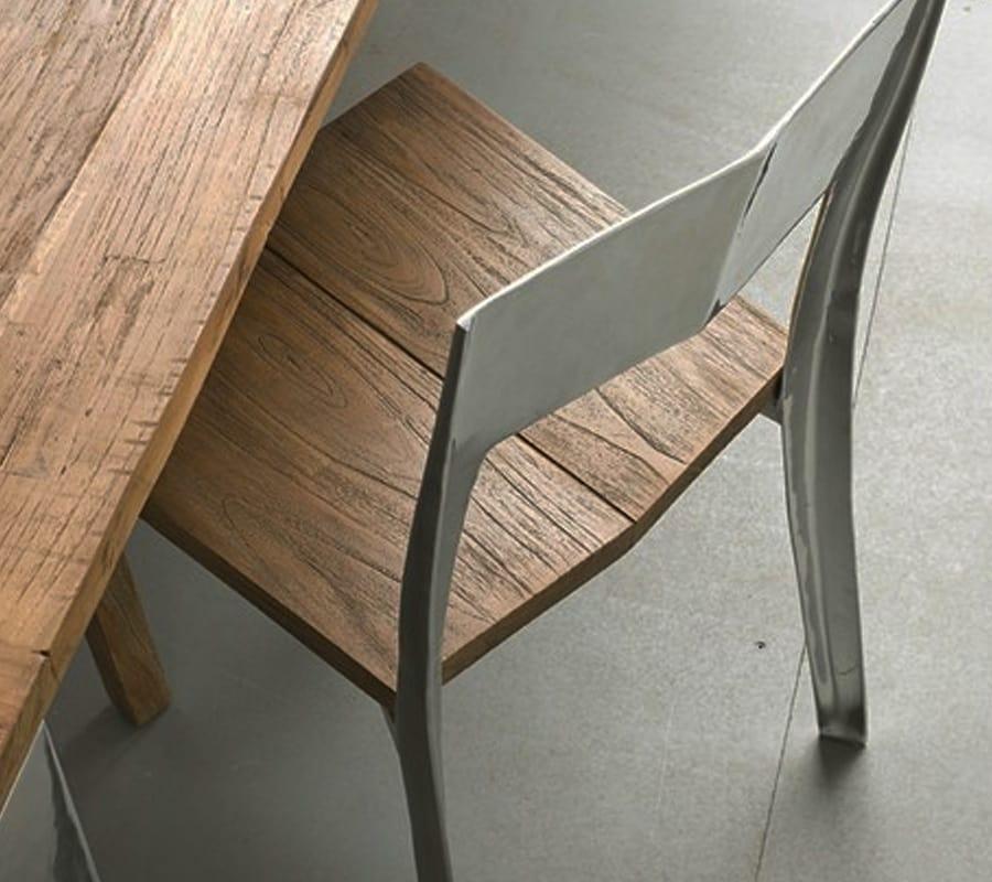 Noa, Solid teak and alluminium chair