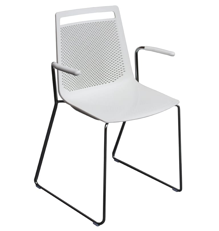 Akami SS, Technopolymer chair with sled base