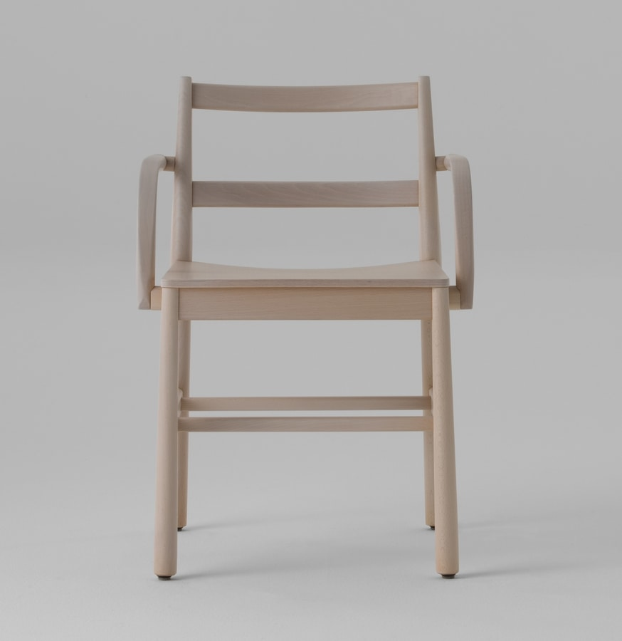 ART. 0020-LE-AR JULIE, Wooden chair with armrests