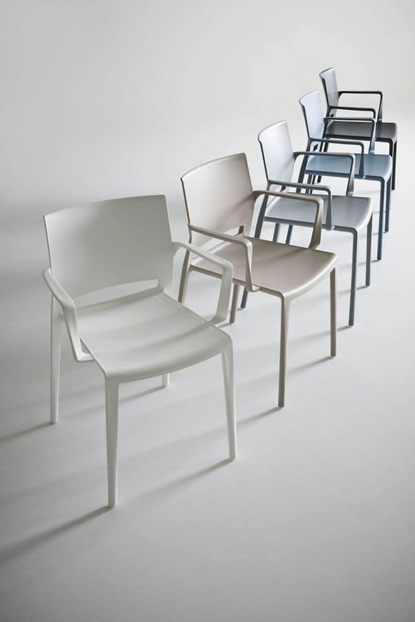 Bakhita B, Stackable polymer chair, for contract use