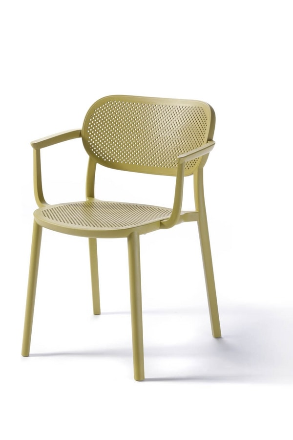 Nuta B, Plastic chair with armrests