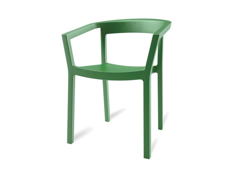 Paola, Robust stackable chair for gardens and swimming pools