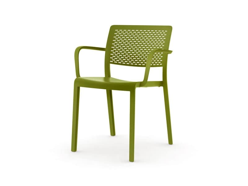 Tara - P, Stackable plastic chair, weatherproof