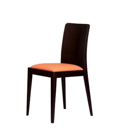 336, Linear padded chair for hotel and modern house