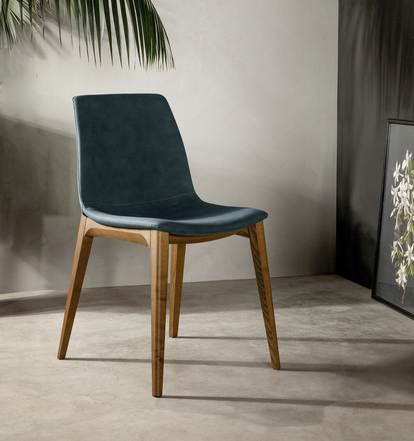 ARALIA, Chair with soft and elegant lines