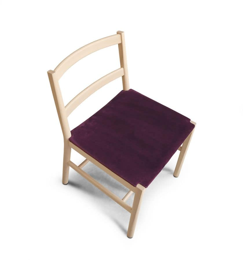 ART. 0021-IMB JULIE, Minimal design chair with padded seat