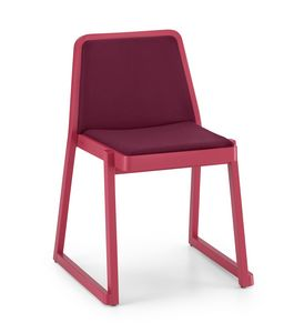 ART. 0041-IMB ROXANNE, Comfortable padded chair, stackable chair