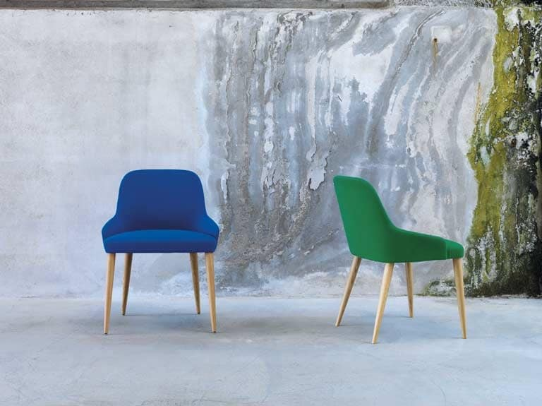 Axel R 4L/FU, Linear wooden chair, classic contemporary style