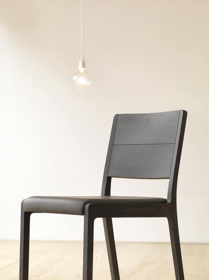 Esse R/SU, Solid wood chair, padded seat
