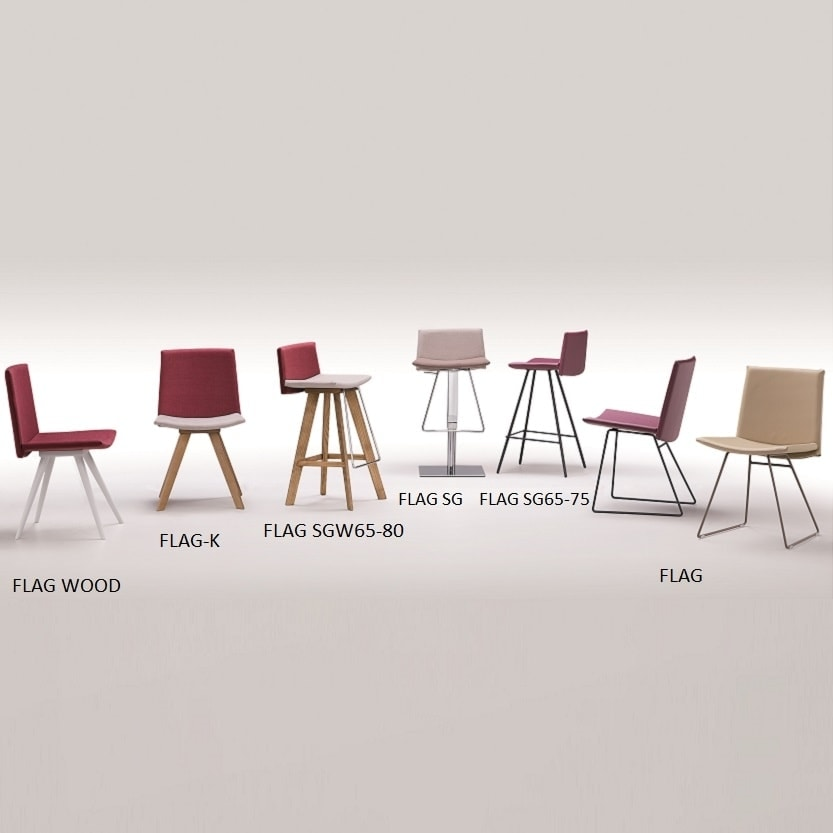 Flag-K, Modern chair, with a minimal design