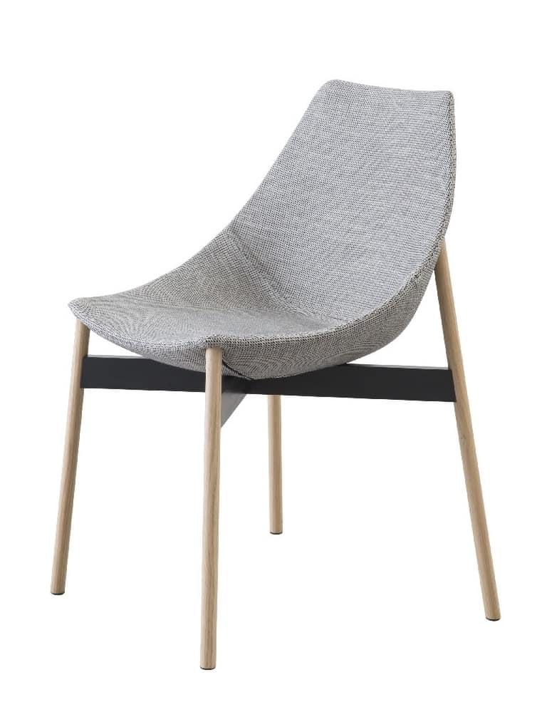 Gamma tubular, Design chair without armrests
