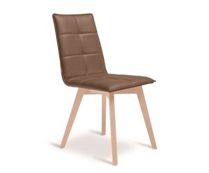 Iris-W, Chair with refined stitching