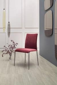KOSMOS, Chair upholstered in fabric or leather, with or without armrests