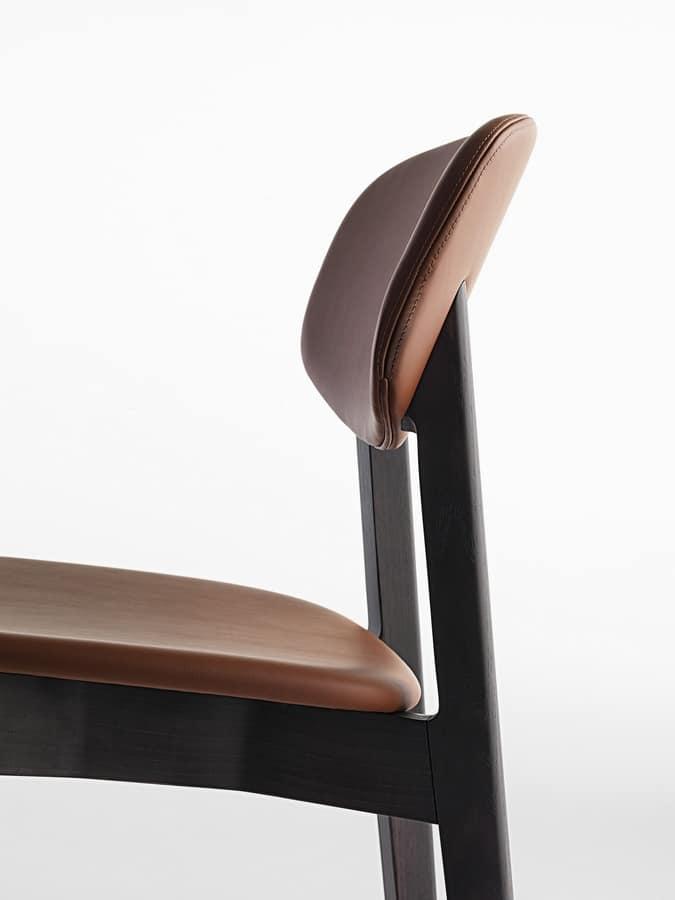 Lene R/FU, Padded chair made of wood