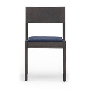 Maki 03712, Wooden chair without armrests, stackable