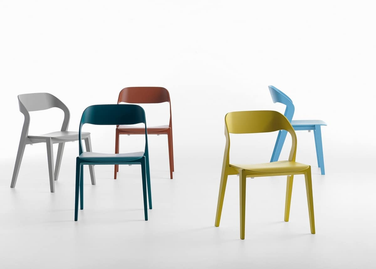 Mixis SU, Stackable chair in wood