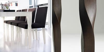 Morgana, Chair made of solid wood, for home and office