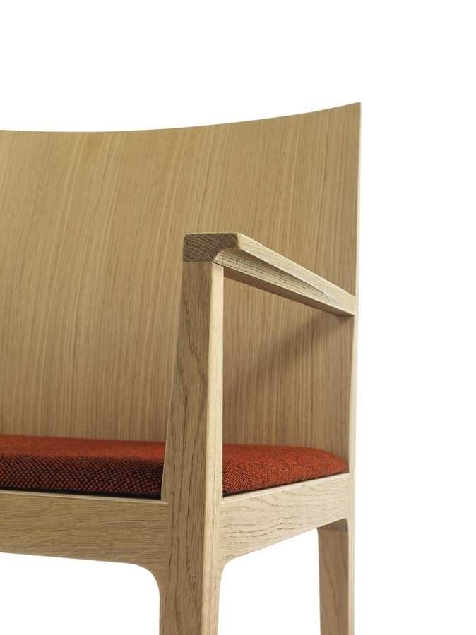 Anna P, Wooden armchair, available upholstered