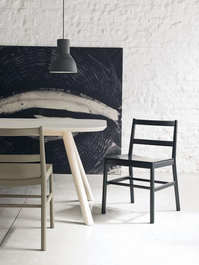 ART. 0020-LE JULIE, Minimal design chair in beechwood
