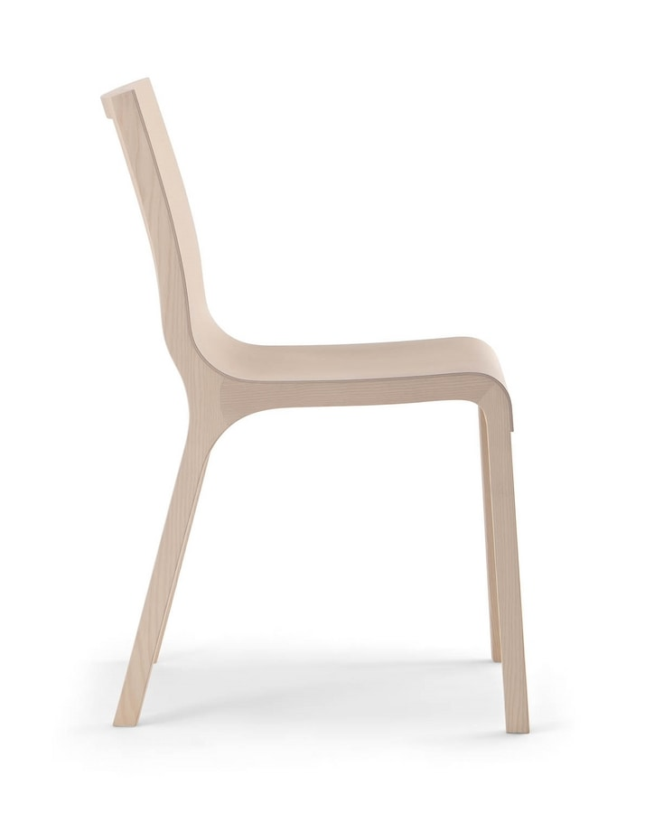 BACK CHAIR 016 S, Solid and light wooden chair