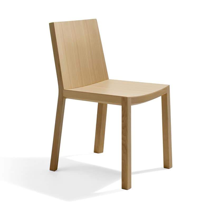 Bianca RS VS, Chair completely made of plywood, linear style