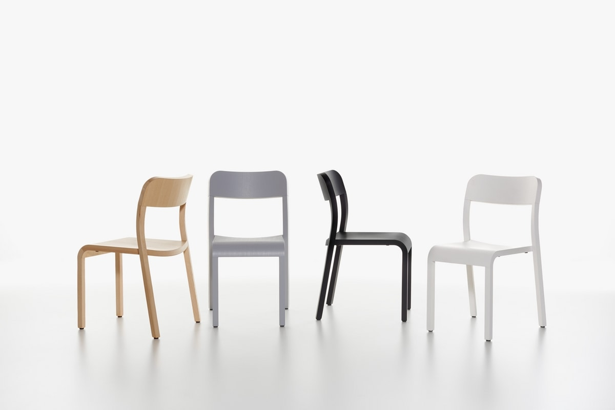 Blocco mod. 1475-20, Chair in natural lacquered ash, for home and restaurant