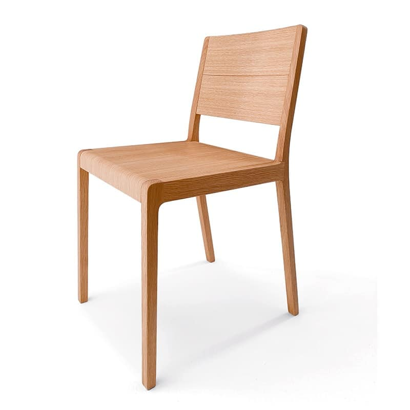 Pleasant Design Chair In Solid Wood Rounded Edges Idfdesign Evergreenethics Interior Chair Design Evergreenethicsorg