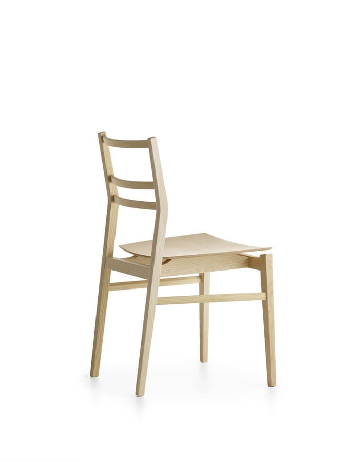 Già R/VS, Chair made of ash without armrests